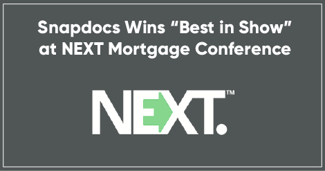 Snapdocs wins best in show next mortgage conference thumb1